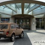Фото Lada 4×4 Urban в коричневом цвете кузова